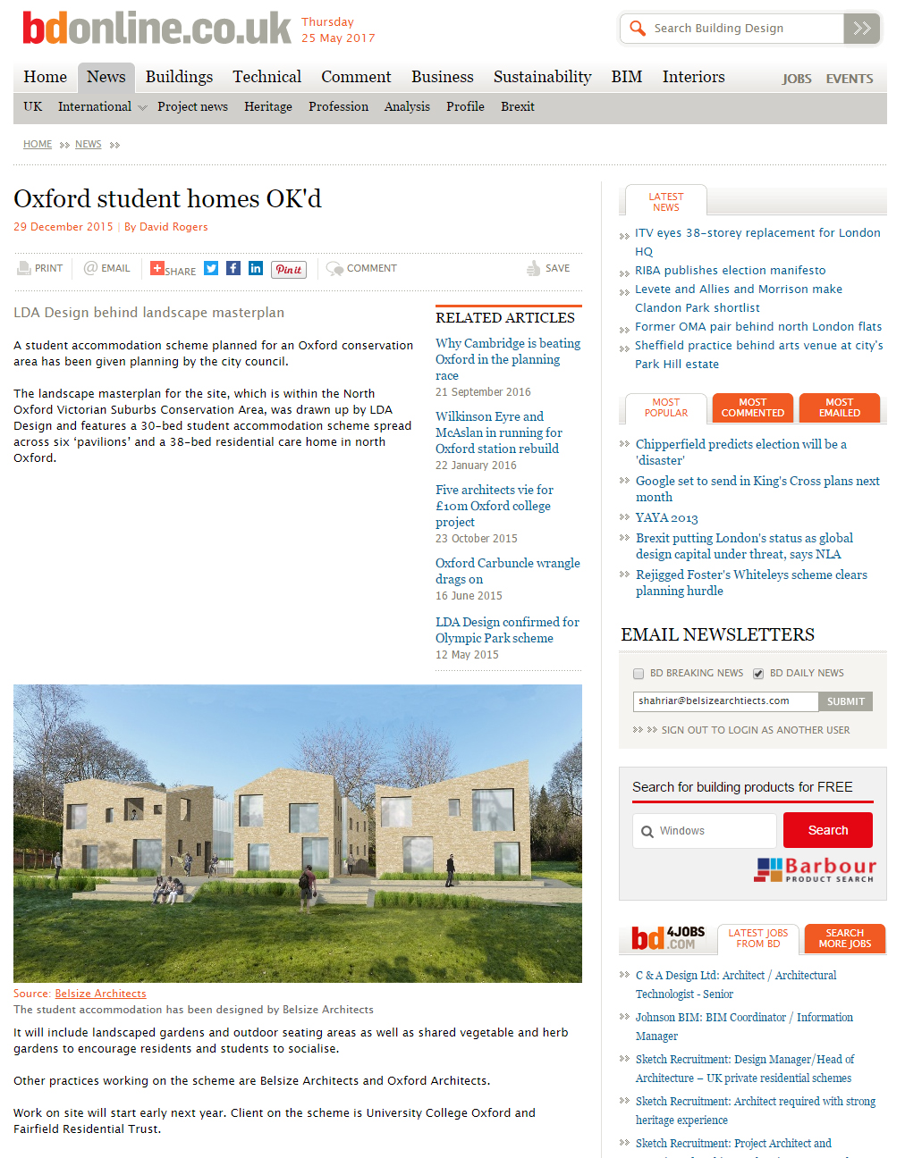 Student accommodation in bdonline for Online architects